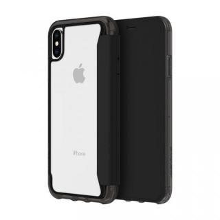 iPhone XS/X ケース Griffin Survivor クリアウォレット 背面クリア手帳型ケース ブラッククリア iPhone XS/X