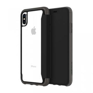 iPhone XS Max ケース Griffin Survivor クリアウォレット 背面クリア手帳型ケース ブラッククリア iPhone XS Max