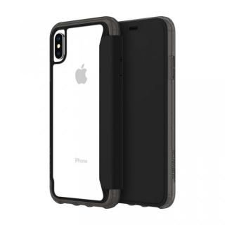 【iPhone XS Maxケース】Griffin Survivor クリアウォレット 背面クリア手帳型ケース ブラッククリア iPhone XS Max