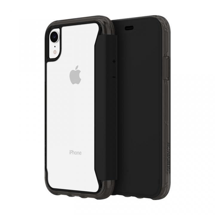 iPhone XR ケース Griffin Survivor クリアウォレット 背面クリア手帳型ケース ブラッククリア iPhone XR_0