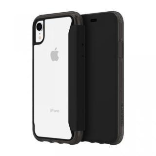 iPhone XR ケース Griffin Survivor クリアウォレット 背面クリア手帳型ケース ブラッククリア iPhone XR