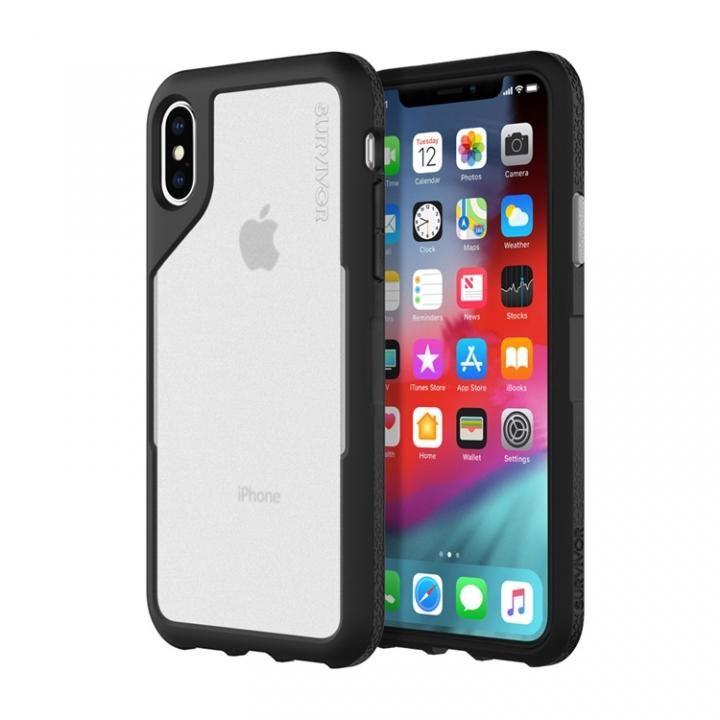 iPhone XS/X ケース Griffin Survivor エンデュランス 背面ケース ブラックグレイ iPhone XS/X_0