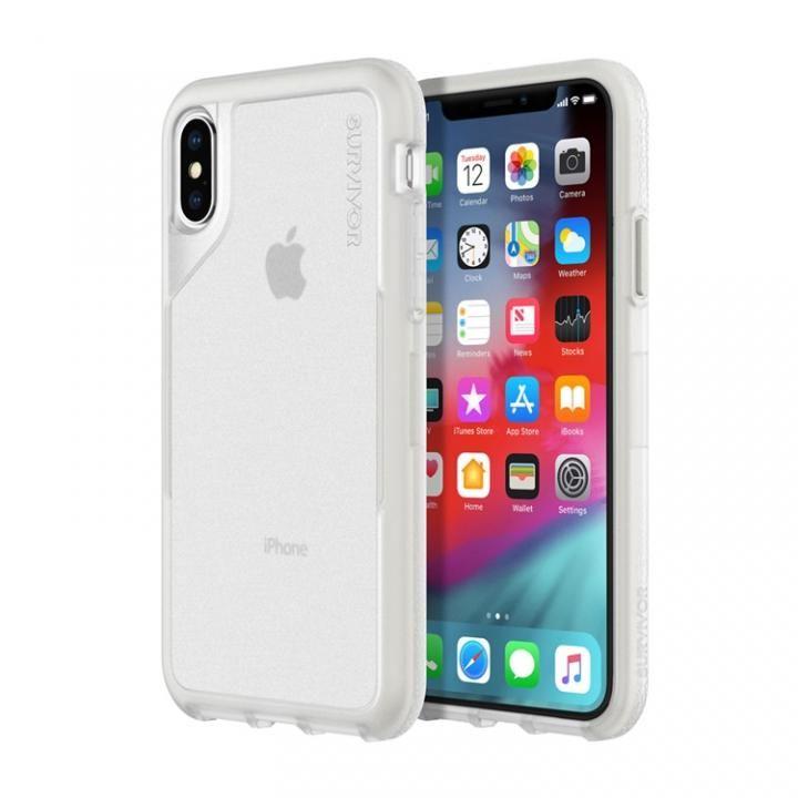 iPhone XS/X ケース Griffin Survivor エンデュランス 背面ケース クリアグレイ iPhone XS/X_0