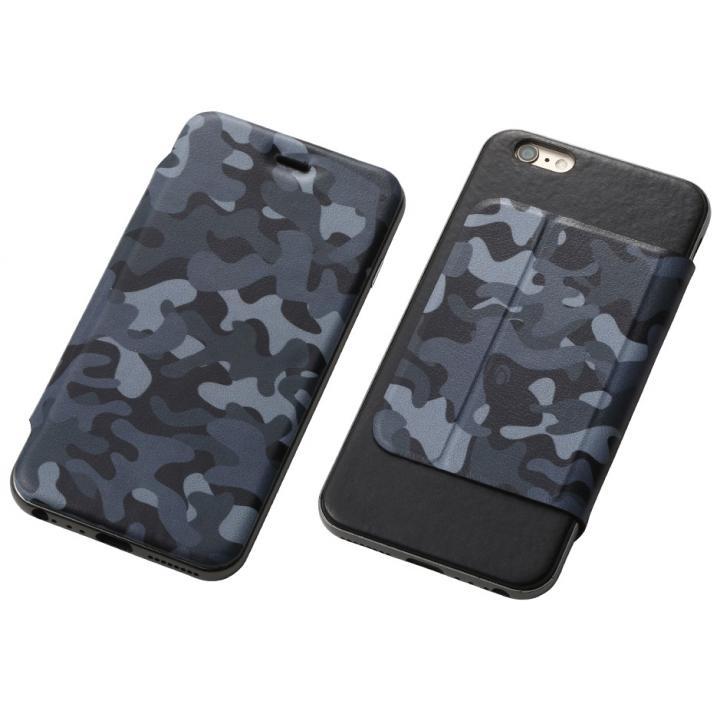 Deff ハイブリッドケース アルミ/PUレザー カモフラ夜中/アルミブラック iPhone 6s Plus/6 Plus