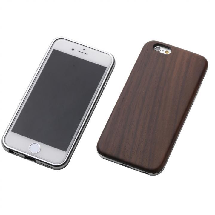 iPhone6s/6 ケース Deff ハイブリッドケース 黒檀/アルミシルバー iPhone 6s/6_0