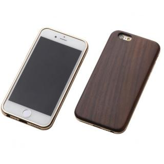 【iPhone6s/6ケース】Deff ハイブリッドケース 黒檀/アルミゴールド iPhone 6s/6