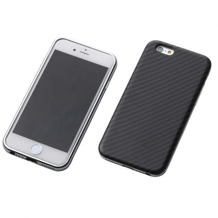 【iPhone6s/6ケース】Deff ハイブリッドケース ブラックケブラー/アルミシルバー iPhone 6s/6_0