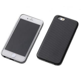 iPhone6s/6 ケース Deff ハイブリッドケース ブラックケブラー/アルミシルバー iPhone 6s/6