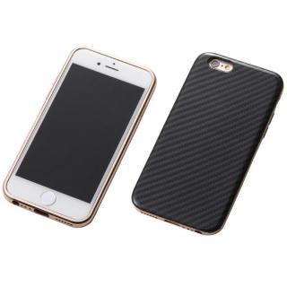 iPhone6s/6 ケース Deff ハイブリッドケース ブラックケブラー/アルミローズゴールド iPhone 6s/6