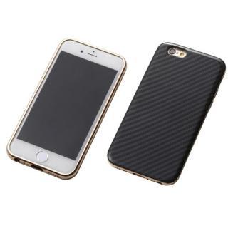 iPhone6s/6 ケース Deff ハイブリッドケース ブラックケブラー/アルミゴールド iPhone 6s/6