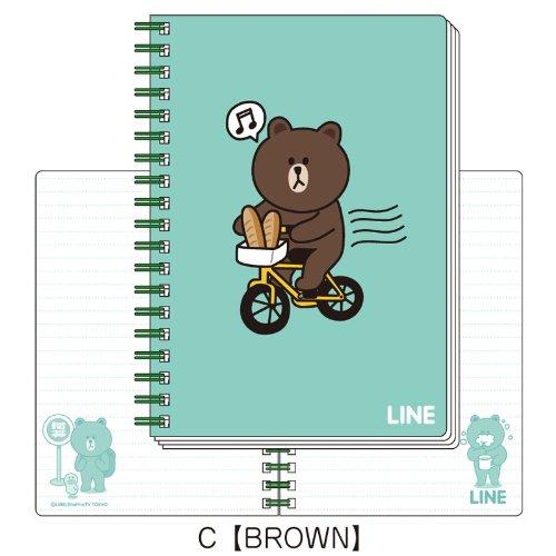 LINE B6ツインリングノートC(BROWN)_0