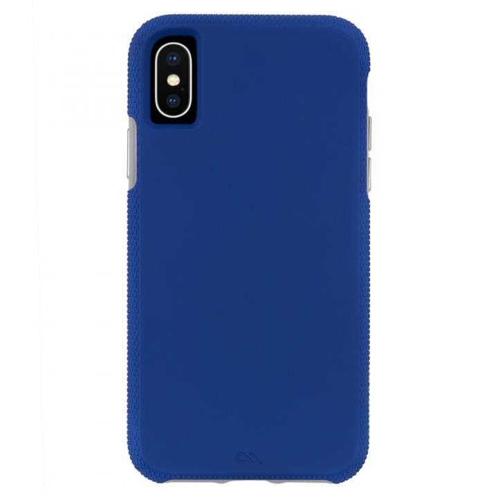 【iPhone XS/Xケース】Case-Mate Tough Grip 背面ケース  Blue/Titanium iPhone XS_0
