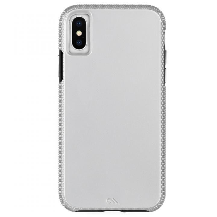 【iPhone XS Maxケース】Case-Mate Tough Grip 背面ケース  Silver/Black iPhone XS Max_0