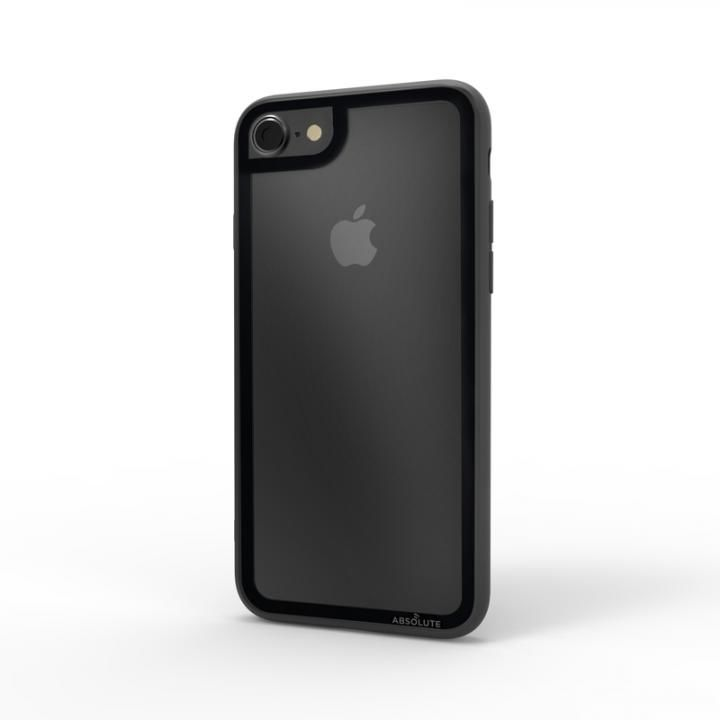 iPhone8/7 ケース LINKASE CLEAR Gorilla Glass ブラック iPhone 8/7_0