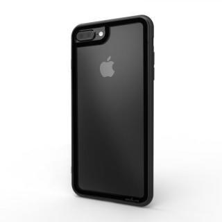 iPhone8 Plus/7 Plus ケース LINKASE CLEAR Gorilla Glass ブラック iPhone 8 Plus/7 Plus