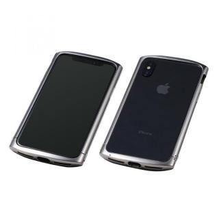 Deff Cleave チタンバンパー ellipse シルバー iPhone X