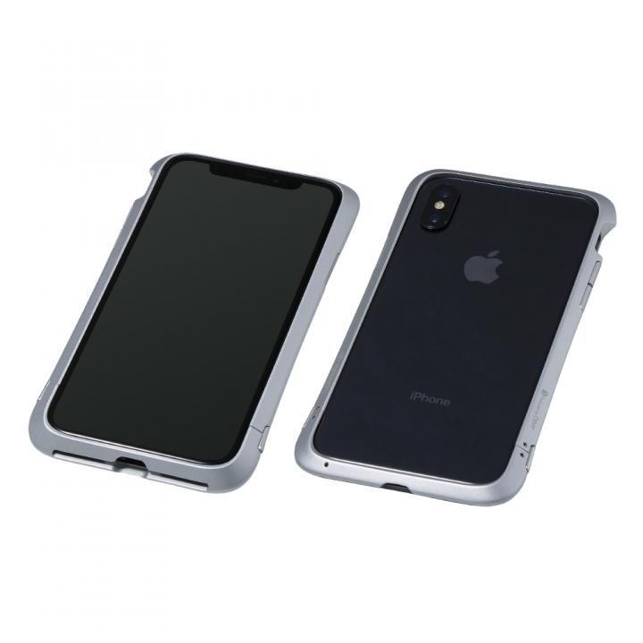 【iPhone XS/Xケース】Deff Cleave アルミバンパー Virtue シルバー iPhone XS/X_0