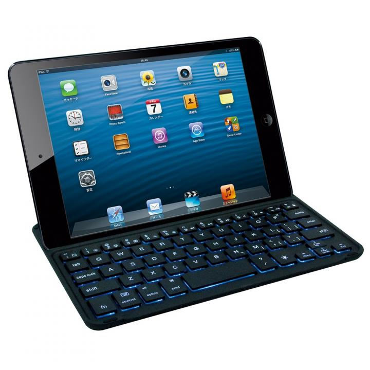 Bluetoothキーボード バックライト搭載アルミカバー iPad mini_0