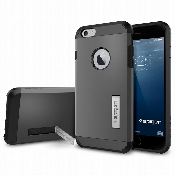 iPhone6 Plus ケース SPIGEN タフアーマー ガンメタル iPhone 6 Plusケース_0