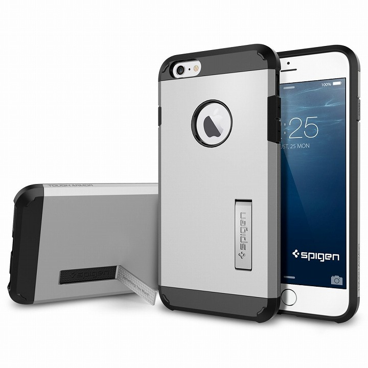 SPIGEN タフアーマー シルバー iPhone 6 Plusケース