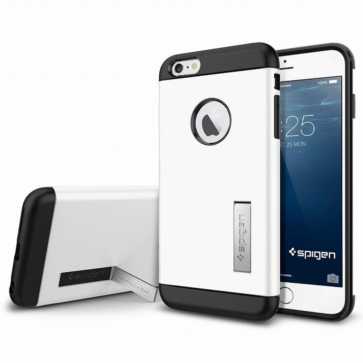 【iPhone6 Plusケース】SPIGEN スリムアーマー ホワイト iPhone 6 Plusケース_0