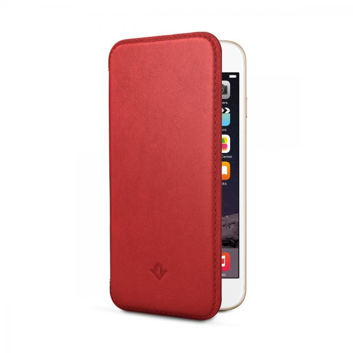 iPhone6s/6 ケース 極薄レザー手帳型ケース SurfacePad レッドポップ iPhone 6s/6_0