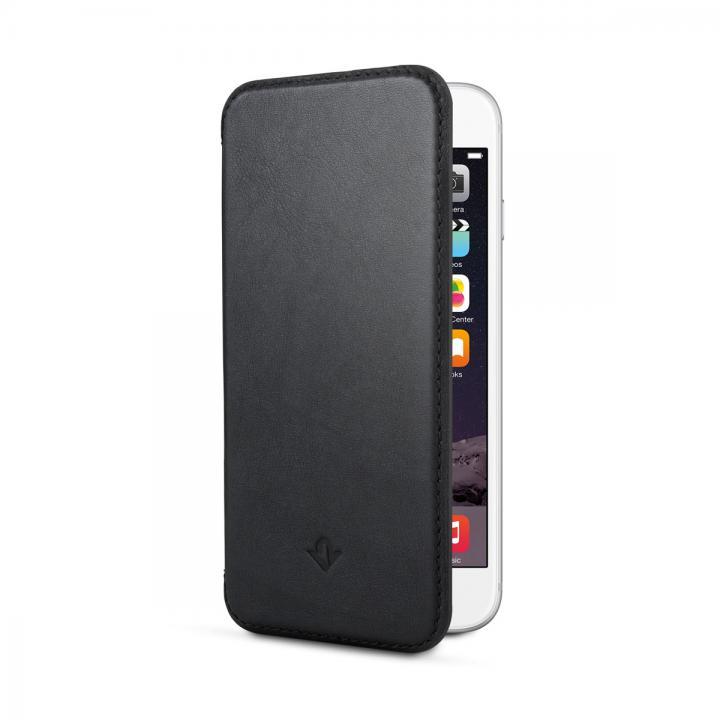 【iPhone6s/6ケース】極薄レザー手帳型ケース SurfacePad ジェットブラック iPhone 6s/6_0