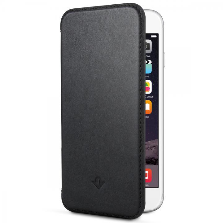 極薄レザー手帳型ケース SurfacePad ジェットブラック iPhone 6 Plus