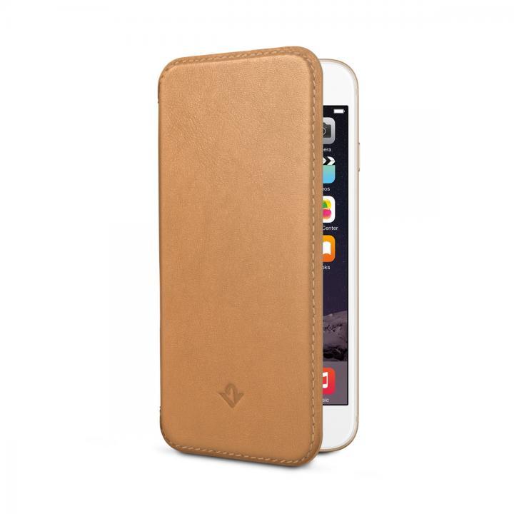 【iPhone6ケース】極薄レザー手帳型ケース SurfacePad キャメル iPhone 6_0