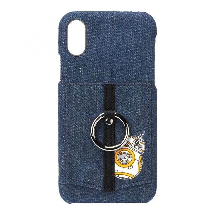 iPhone XS/X ケース スター・ウォーズ ハードケース ポケット&リング付き BB-8_0