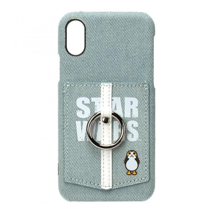 【iPhone XS/Xケース】スター・ウォーズ ハードケース ポケット&リング付き ロゴ/デニム_0
