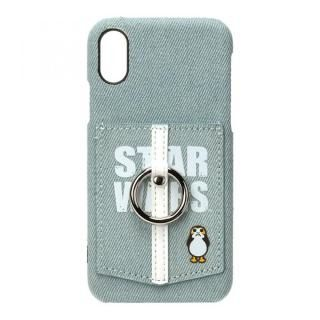 iPhone XS/X ケース スター・ウォーズ ハードケース ポケット&リング付き ロゴ/デニム
