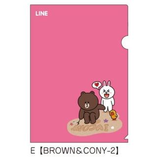 LINE クリアファイルE(BROWN&CONY-2)