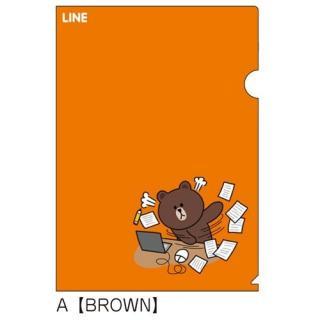 LINE クリアファイルA(BROWN)