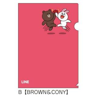 LINE クリアファイルB(BROWN&CONY)