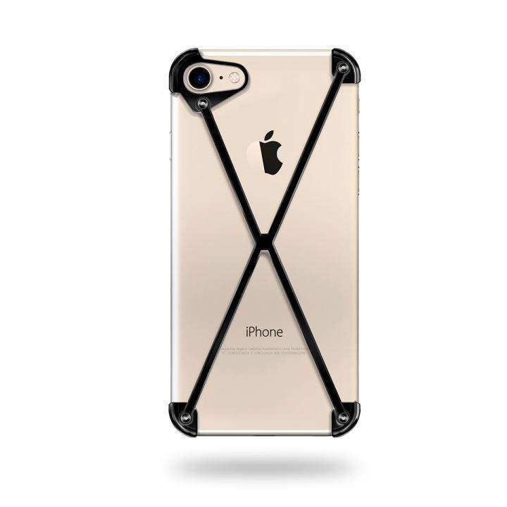 【iPhone7ケース】ミニマムデザインカバー RADIUS case Black iPhone 7_0