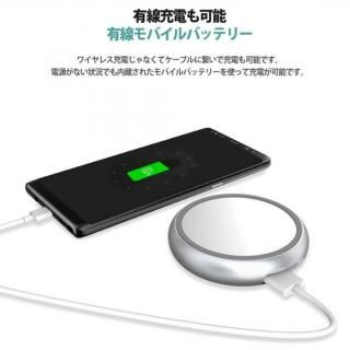 Qi対応ワイヤレス充電パッド & 1000mAhモバイルバッテリー ブラック_4