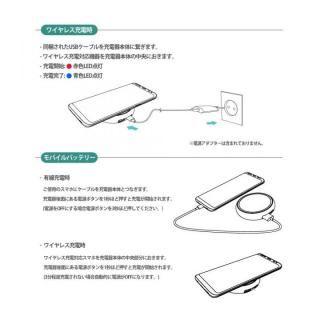 Qi対応ワイヤレス充電パッド & 1000mAhモバイルバッテリー ブラック_9
