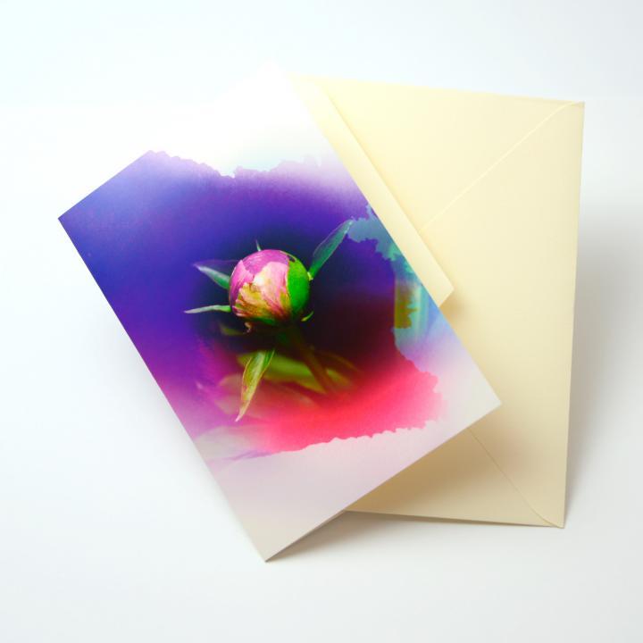 iPhoneで動き出すグリーティングカード Bloom Card 02(芍薬)_0