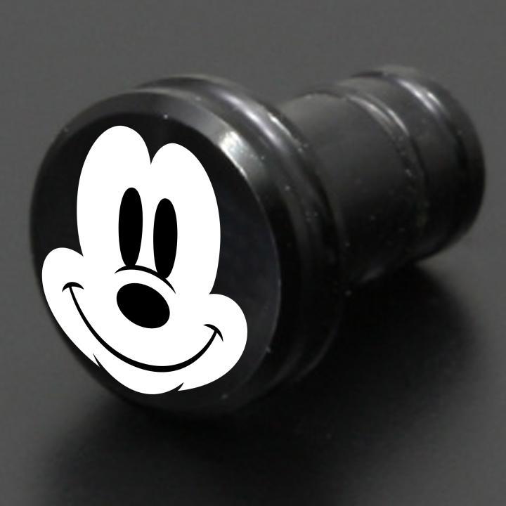ディズニー ギルドデザイン製 アルミイヤホンジャックカバー ミッキーフェイス