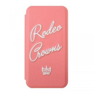 iPhone XS/X ケース RODEO CROWNS インサイド 手帳型ケース ピンク iPhone XS/X
