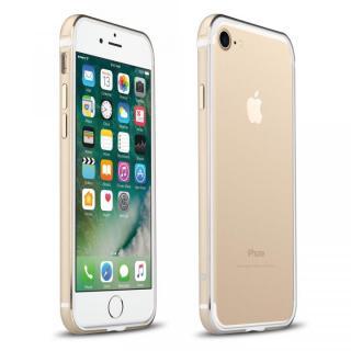 FRAME x FRAME メタルバンパーケース ゴールド/ホワイト iPhone 7