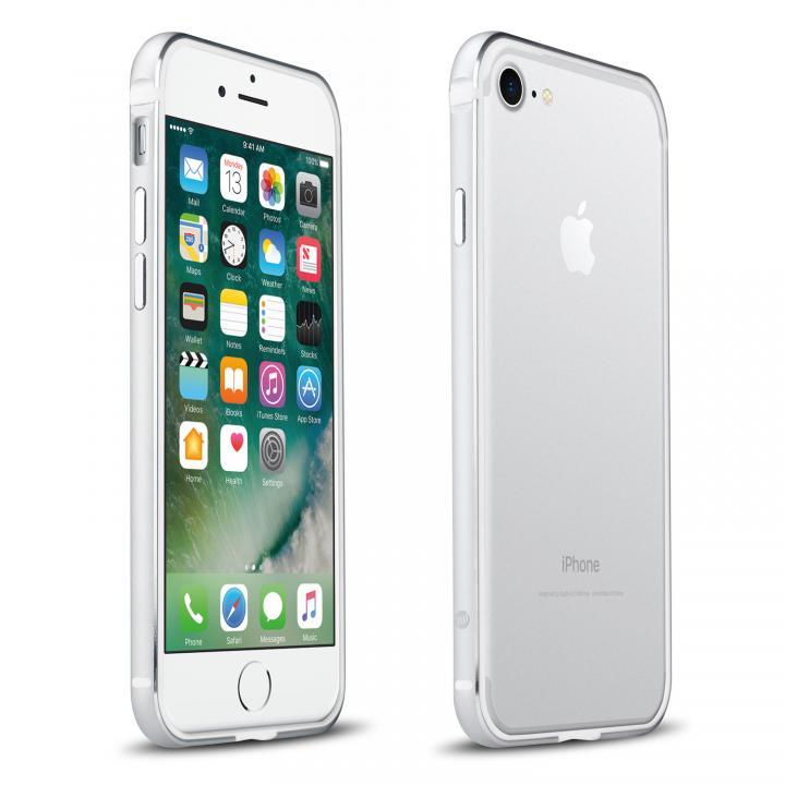 【iPhone7ケース】FRAME x FRAME メタルバンパーケース シルバー/ホワイト iPhone 7_0