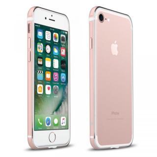 FRAME x FRAME メタルバンパーケース ローズゴールド/ホワイト iPhone 7