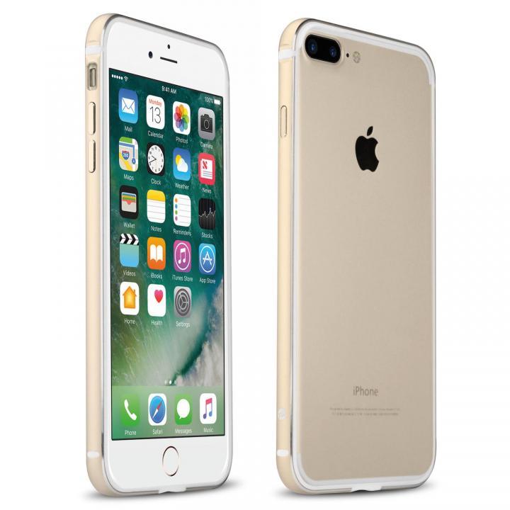 FRAME x FRAME メタルバンパーケース ゴールド/ホワイト iPhone 7 Plus