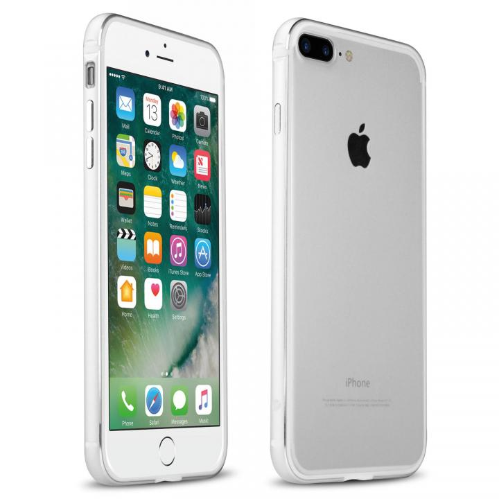 【iPhone7 Plusケース】FRAME x FRAME メタルバンパーケース シルバー/ホワイト iPhone 7 Plus_0