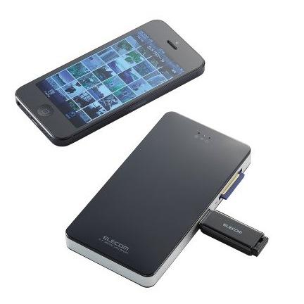 【50%OFF】 Wi-Fi対応 メモリリーダライタ/iPhone・iPad・iPod向け/ブラック_0