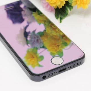 iPhone SE/5s/5/5c 保護フィルム 強化ガラスミラーピンク