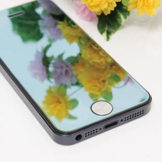 iPhone SE/5s/5/5c 保護フィルム 強化ガラスミラーブルー
