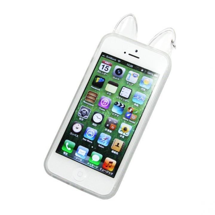 iPhone SE/5s/5 ケース iPhone SE/5s/5 保護ケース どうぶつのみみ クリア_0